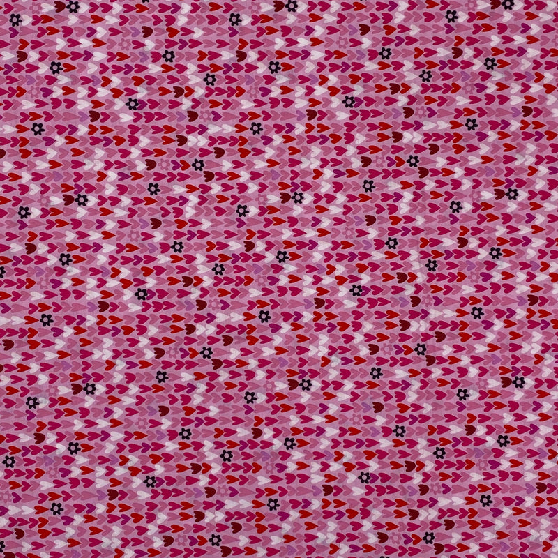 I Heart of You (Pink) Cotton Fabric