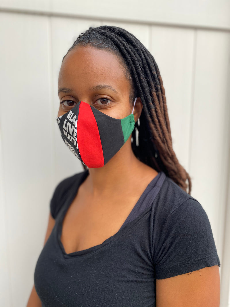 Black Lives Matter Flag Mask