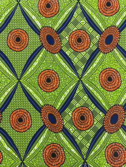 Green Diamond African Fabric