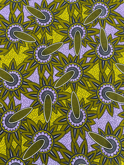 Gold Starburst African Fabric