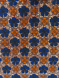 Orange Diamond African Fabric
