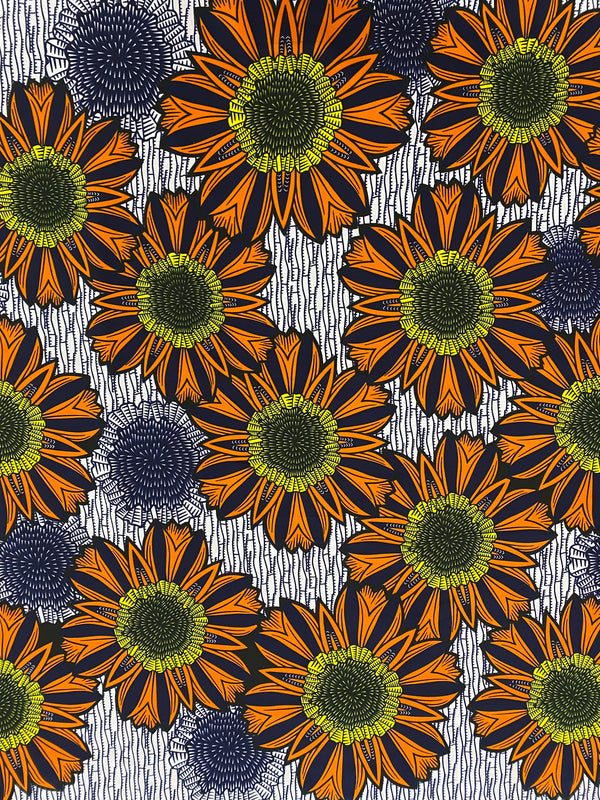 Sunflower African Print Fabric
