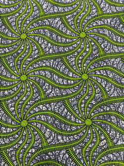 Neon Sparks African Print Fabric
