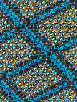 Blue Scales African Fabric