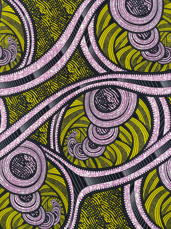 Spiral Steps African Fabric