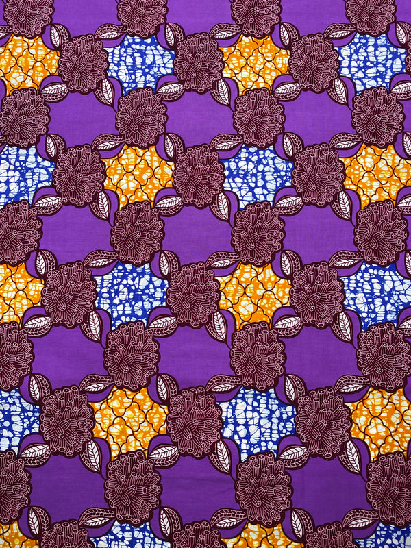 Purple African Print Fabric