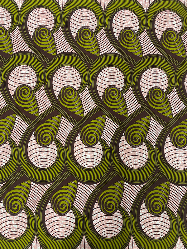 Cylindrical Cones African Print