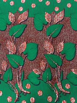 Red Bloom African Print Fabric