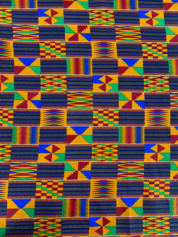 Blue and Orange Kente