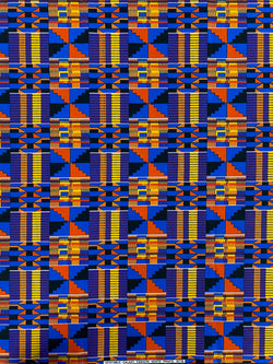 Purple & Blue Kente