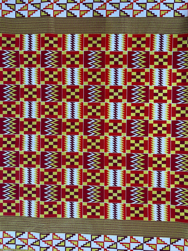 Red & Gold Kente