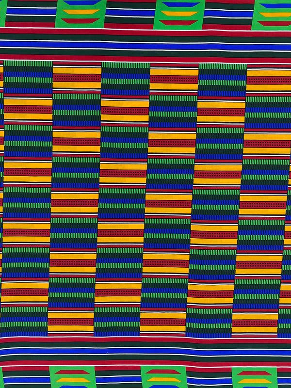 Blue and Green Kente