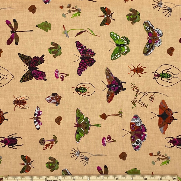 Butterfly Curiosities Cotton Fabric