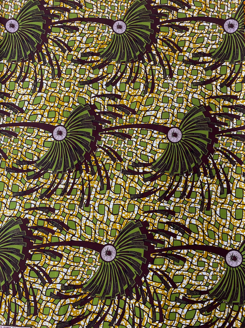 Splash of Green African Print