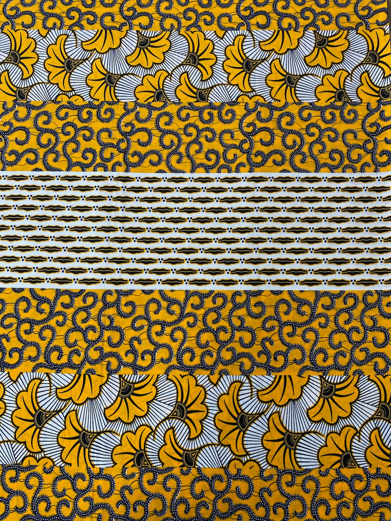 Yellow Fan African Print