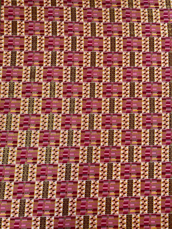 Pink and Shimmer Gold Kente