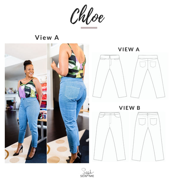 Chloe Jeans Sewing Pattern