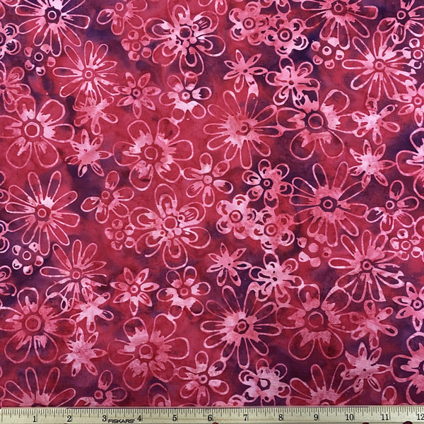 Red Flower Handcrafted Batik