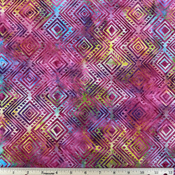 Pink Diamonds Handcrafted Batik