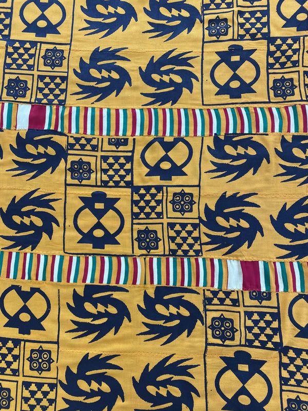 Golden Adinkra Cloth