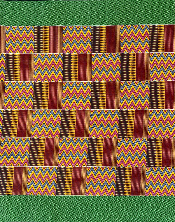 Green Border Kente