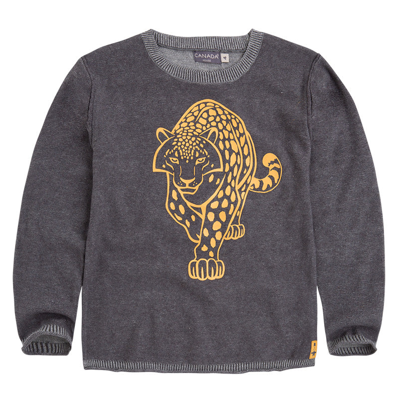 Sweater from the Canada House Kids' Clothing line with plain collar   round and beautiful cont...
