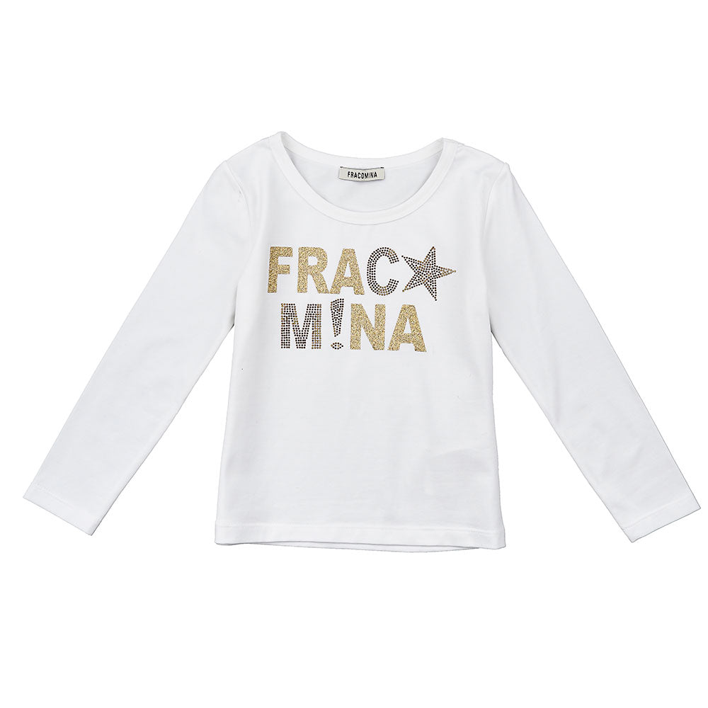 T-shirt from the Fracomina Girl's Clothing Line, with gold print on the front.      Compositio...
