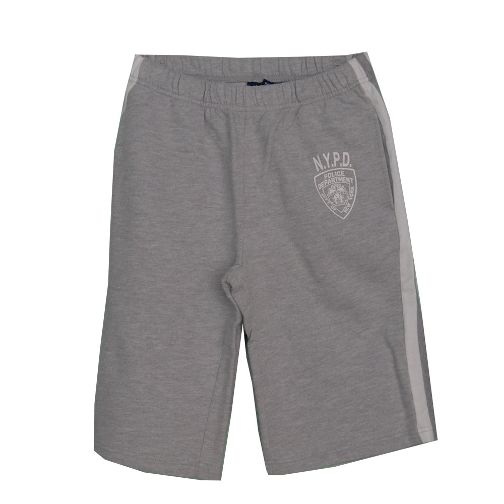 Fleece Bermuda shorts from the Mirtillo children's clothing line. Solid color with pockets   o...
