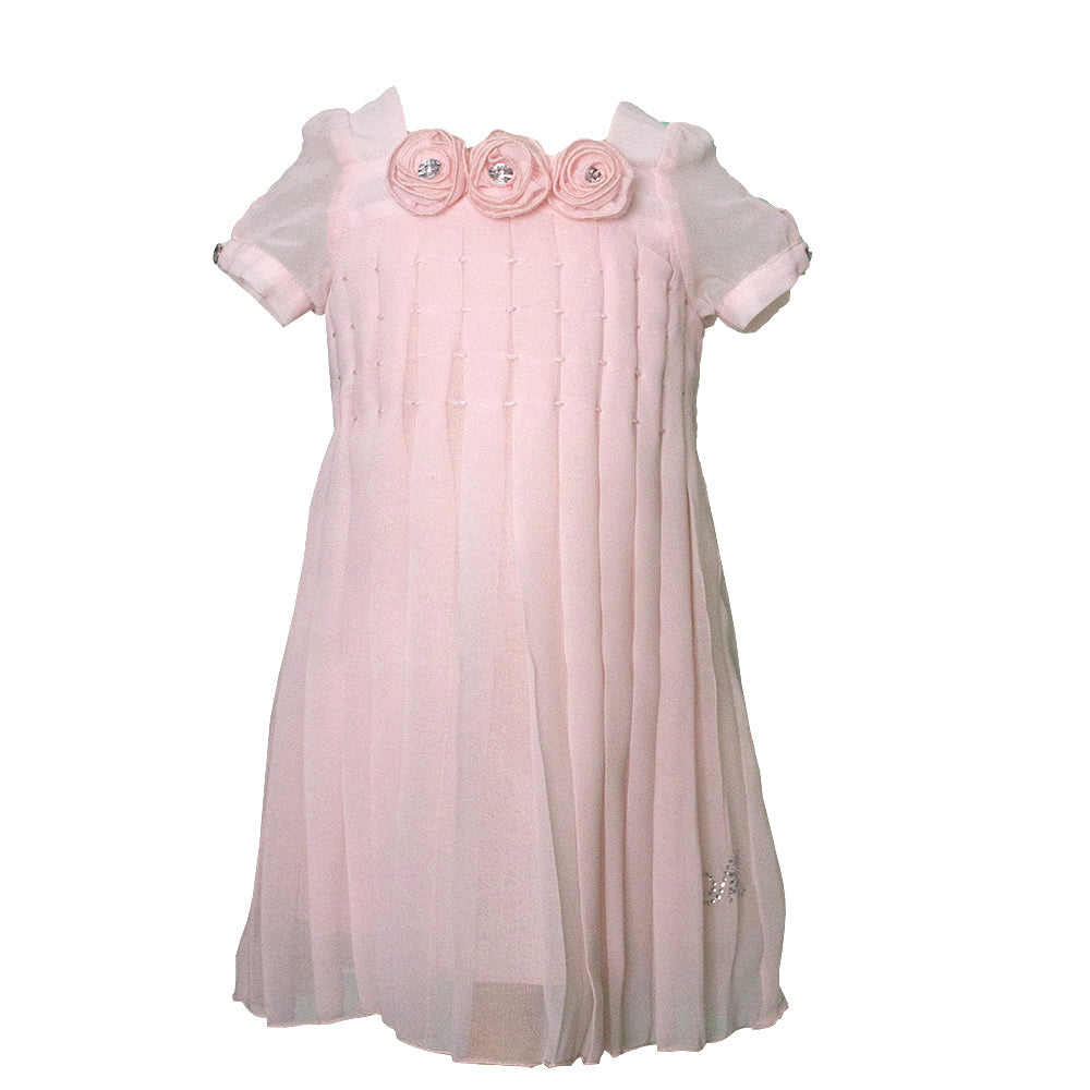 Dress from the Mirtillo girl's clothing line in solid color creponne. With   pleating. Fabric ...