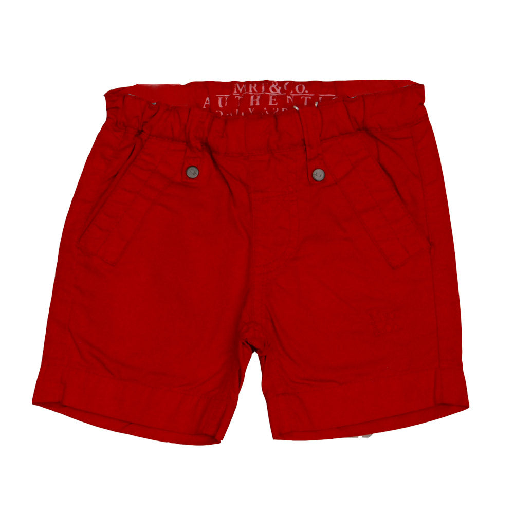 Bermuda shorts from the Mirtillo children's clothing line. Solid color with pockets on the sid...