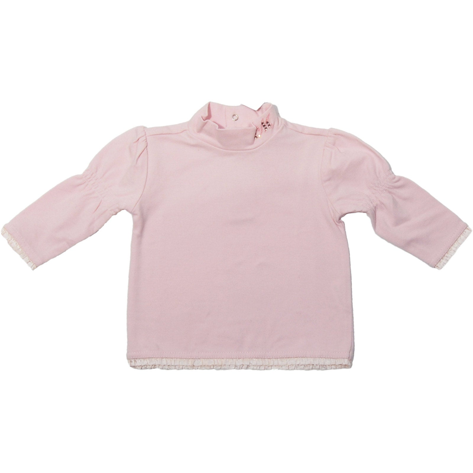 Girl's wolfcup from the girls' clothing line Long-sleeved Mirtillo with gathers on sleeves, ap...