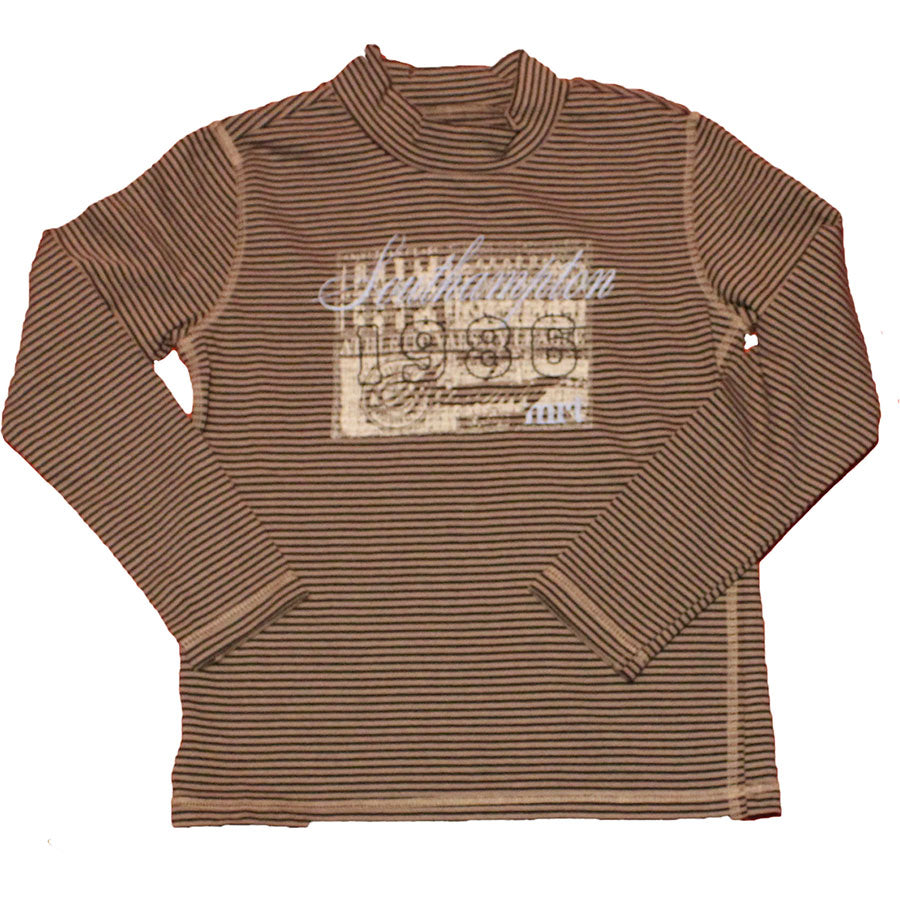 Baby boy clothing line Mirtillo , striped pattern with prints   on the front and embroidery.  ...