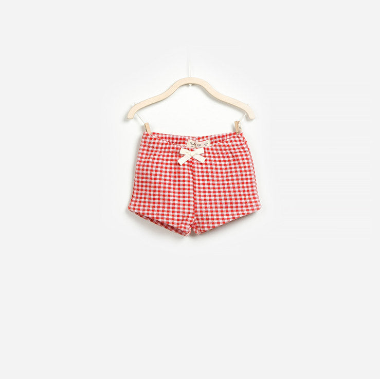 Vichy patterned shorts from the Play Up girls' clothing line.      Composition: 100% Cotton   ...