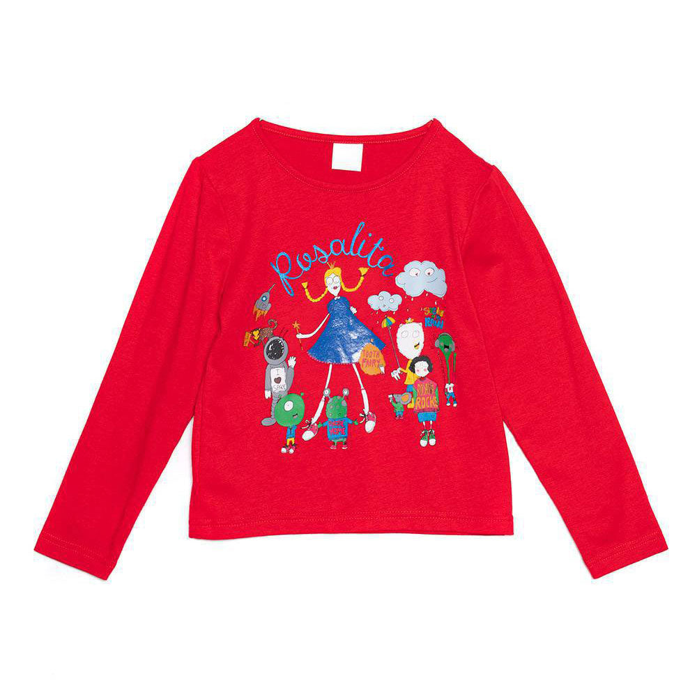 Rosalita Senoritas Girl's Clothing Line Long Sleeved T-shirts with   choker. Red colour with f...