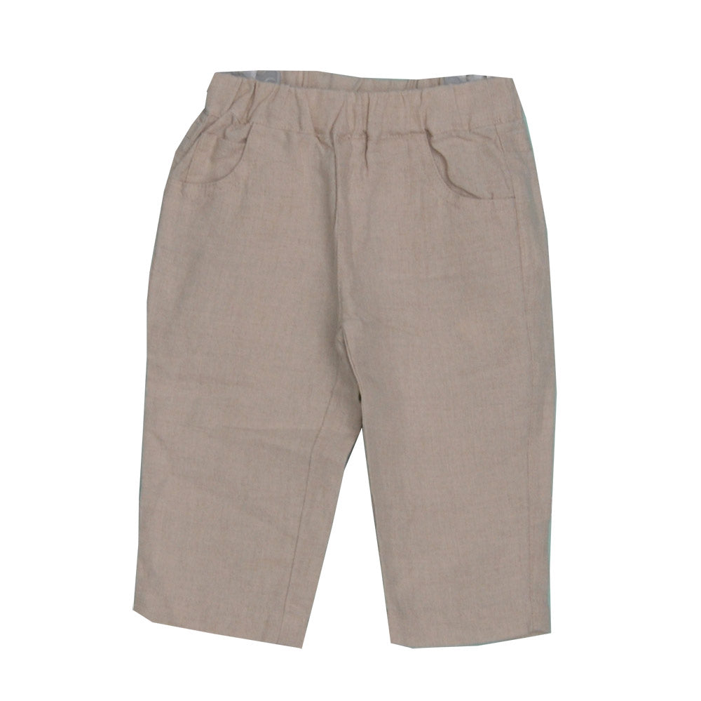 Linen trousers from the children's clothing line Silvian Heach. Solid colour model   five pock...
