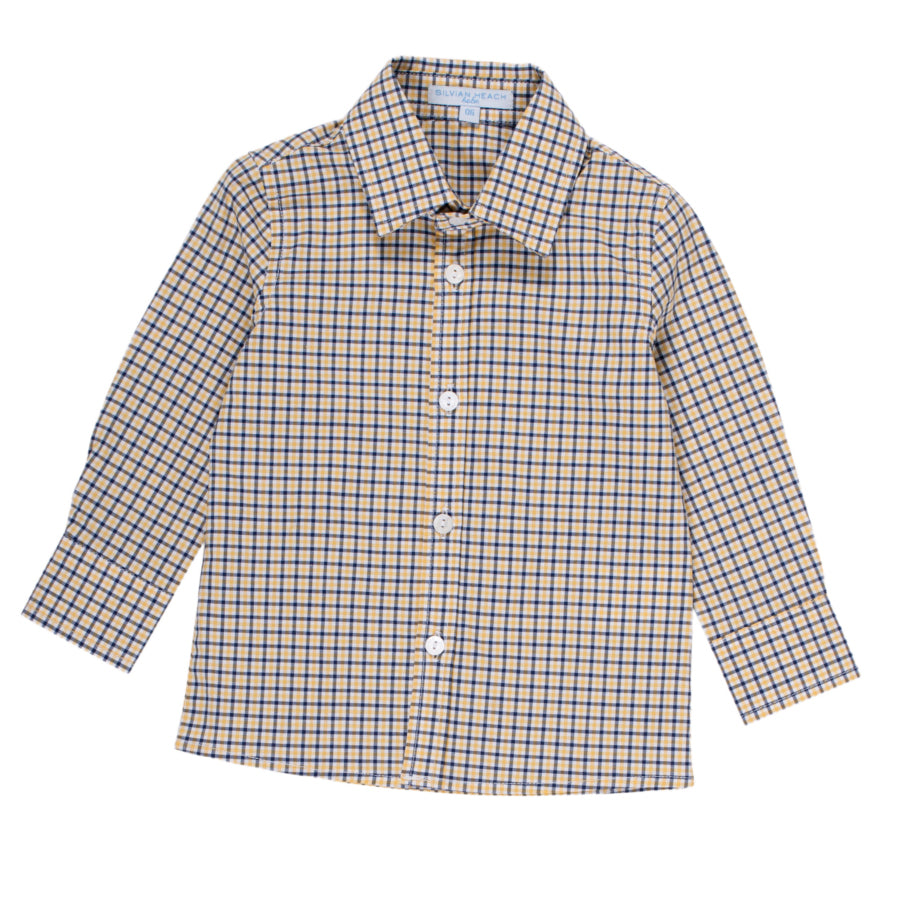 Shirt from the Silvian Heach Kids clothing line; long-sleeved, patterned shirt   checkered, re...
