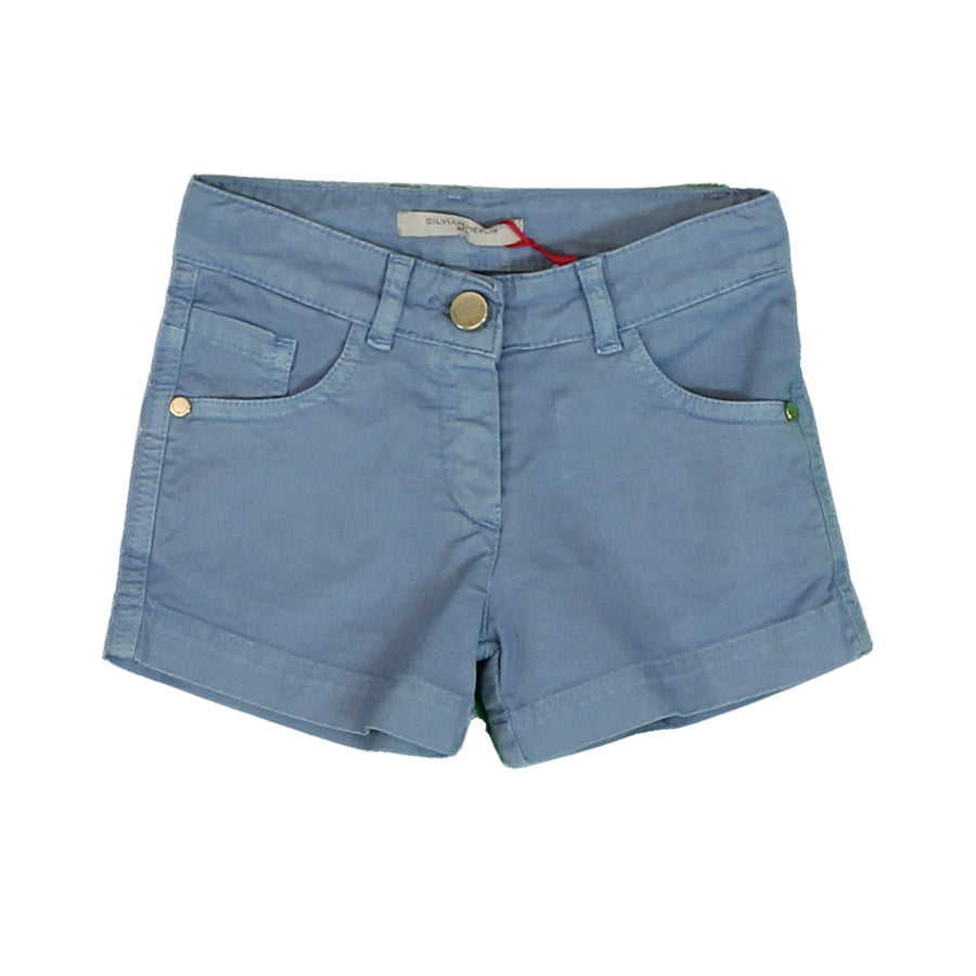 Shorts from the Silvian Heach Kids clothing line, model five   solid-colored pockets. Button a...
