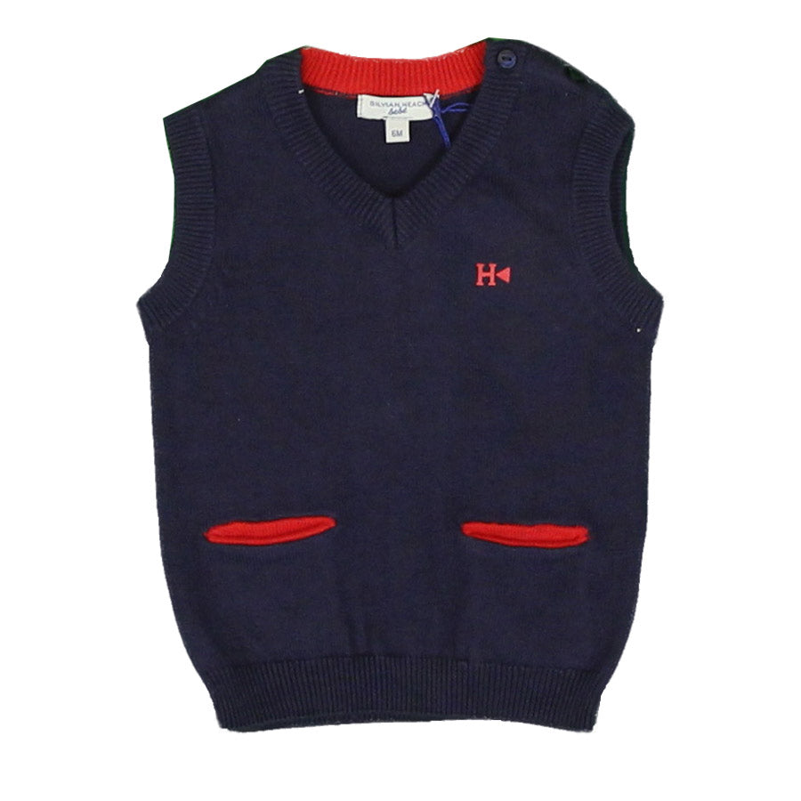 Vest from the Silvian Heach Bebè baby clothing line, classic dyed model   contrasting colour, ...