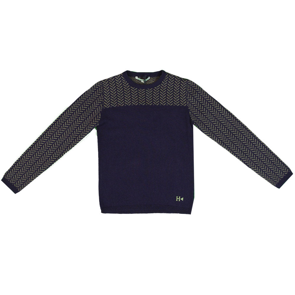 Sweater from the Silvian Heach Kids clothing line; solid-colour on the   front with neckline, ...