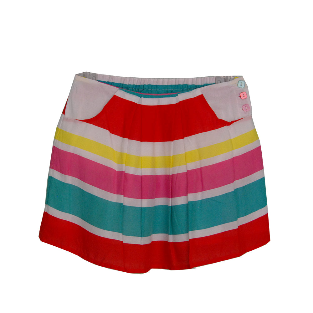 Skirt from the Tuc Tuc girl's clothing line with multicolor stripes. Pockets on the sides.   S...
