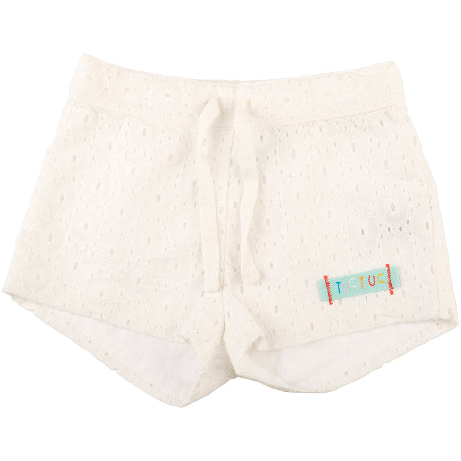 Shorts from the Tuc Tuc girl's clothing line in perforated fabric with   elastic waistband and...