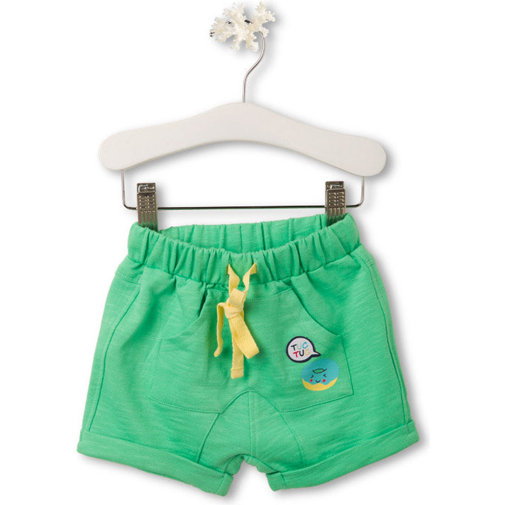 Shorts from the Tuc Tuc children's clothing line, in solid color flamed cotton   with front po...