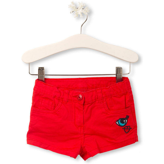 Shorts from the Tuc Tuc girl's clothing line, with straight pattern and coloured embroidery   ...