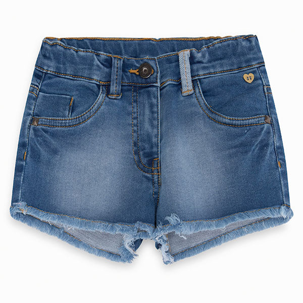 Denim shorts from the girl's clothing line Tuc, Tuc, basic with size   adjustable waist.      ...