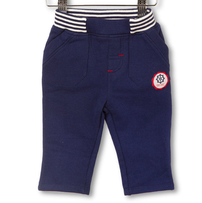 Children's clothing line trousers Tuc Tuc plain with application   in fabric. Pockets on the s...