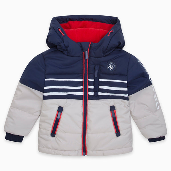 Parka from the Tuc Tuc Kids Clothing Line with side pockets and zipper on the   in front; insi...