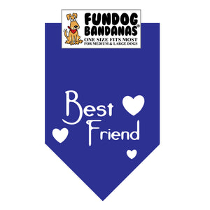 Wholesale 10 Pack - Best Friend Bandana - Assorted Colors - FunDogBandanas