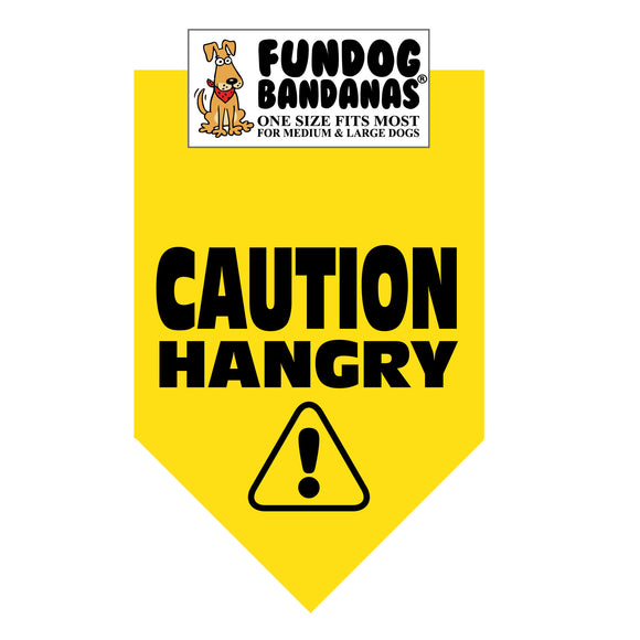 Caution Hangry Bandana - FunDogBandanas