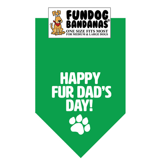 Wholesale 10 Pack - Happy FurDad's Day - Assorted Colors - FunDogBandanas