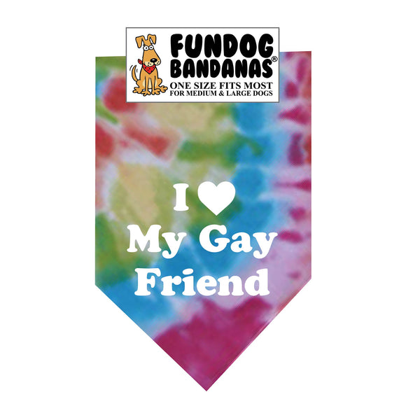 I Love my Gay Friend Bandana - FunDogBandanas